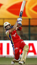 Virat Kohli smashes one down the ground, RCB v NSW, 1st semi-final, CLT20, Bangalore, October 7, 2011