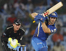 Aiden Blizzard hits down the ground, Somerset v Mumbai Indians, 2nd semi-final, CLT20, Chennai, October 8, 2011