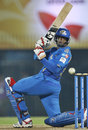 Suryakumar Yadav plays a lap shot, Somerset v Mumbai Indians, 2nd semi-final, CLT20, Chennai, October 8, 2011