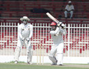 Javed Ahmadi drives on his way to 49, UAE v Afghanistan, Intercontinental Cup, Sharjah, 2nd day, October 6 2011