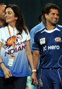 Sachin Tendulkar and Nita Ambani after Mumbai Indians' semi-final win, Somerset v Mumbai Indians, 2nd semi-final, CLT20, Chennai, October 8, 2011