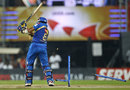 Sarul Kanwar has his stumps disturbed, Mumbai Indians v RCB, CLT20 final, Chennai, October 9, 2011