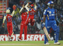 Royal Challengers celebrate the dismissal of Ambati Rayudu