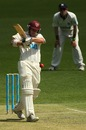 Andrew Robinson batting during his 78, Queensland v Victoria, day one, Sheffield Shield, Brisbane, October 11