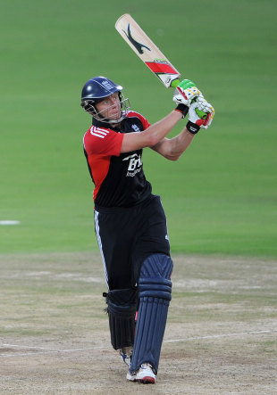 Jonny Bairstow launches away another boundary, Hyderabad XI v England XI, Tour Match, Hyderabad, October 11 2011