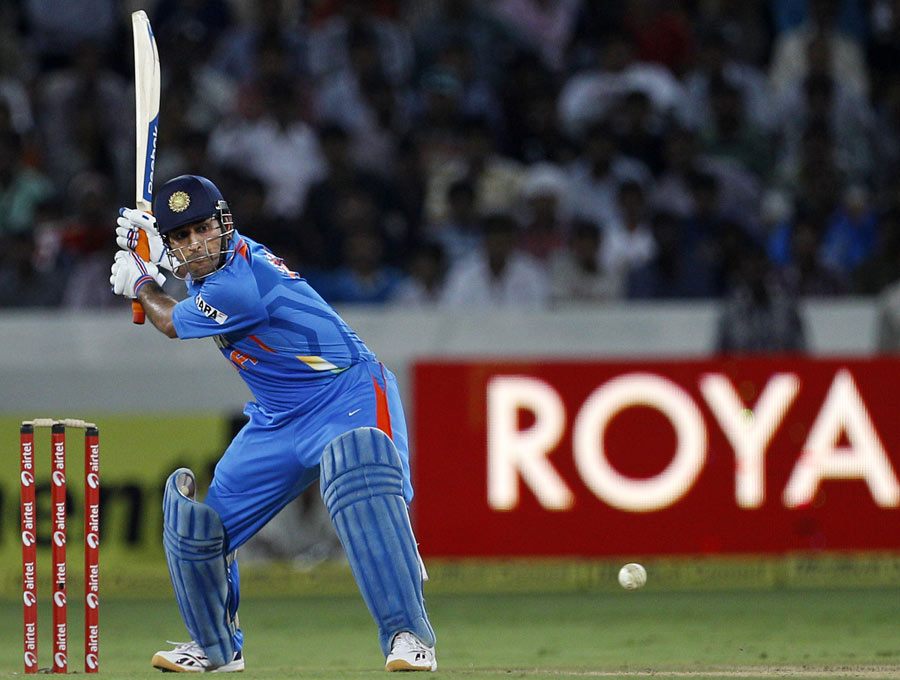 MS Dhoni lines up a big hit | Photo | India v England ...