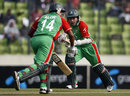 Alok Kapali and Mushfiqur Rahim take a run