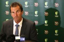 Andrew Hilditch, the chairman of selectors, announces Australia's Test squad to tour South Africa, Adelaide Oval, October 17