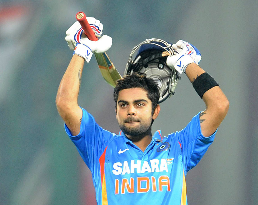 Virat Kohli reaches his hundred as India race to victory
