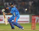 Gautam Gambhir guides one to third man during his unbeaten 84, India v England, 2nd ODI, Delhi, October 17 2011