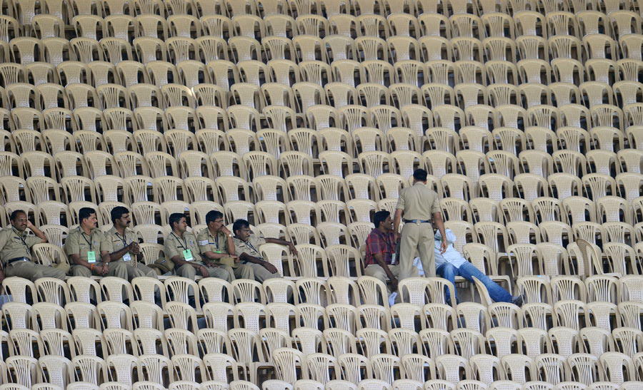 ... the empty stands | Photo | ICC Cricket World Cup 2011 | ESPN Cricinfo