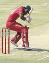 Chamu Chibhabha ducks under a bouncer, Zimbabwe v New Zealand, 1st ODI, Harare, October 20, 2011