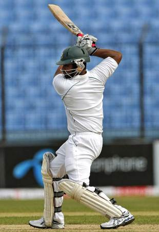 Tamim iqbal made a half-century, Bangladesh v West Indies, 1st Test, Chittagong, 1st day, October 21, 2011