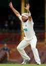 Jayde Herrick appeals for a wicket, New South Wales v Victoria, Sheffield Shield, Sydney, 1st day, October 25, 2011
