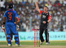 Stuart Meaker had Manoj Tiwary caught behind