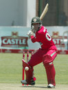 Malcolm Waller winds up for a big hit, Zimbabwe v New Zealand, 2nd ODI, Harare, October 22, 2011
