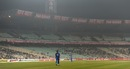 The match was played against a backdrop of empty seats