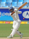 Kaushal Silva bats on Test debut