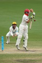 Cullen Bailey defends on the back foot, South Australia v Western Australia, Sheffield Shield, day four, Adelaide, October 28 2011