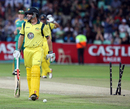 Shaun Marsh perished to JP Duminy's offspin, South Africa v Australia, 3rd ODI, Durban, October 28, 2011