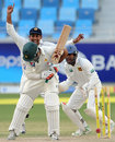 Taufeeq Umar is bowled, Pakistan v Sri Lanka, 2nd Test, Dubai, 4th day, October 29, 2011
