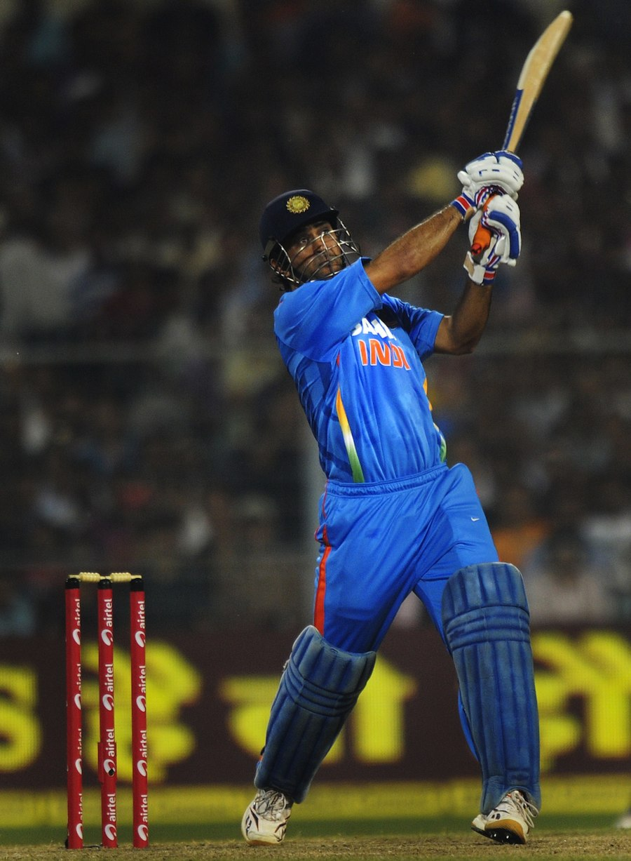 ms dhoni hits down the ground cricket photo espn cric