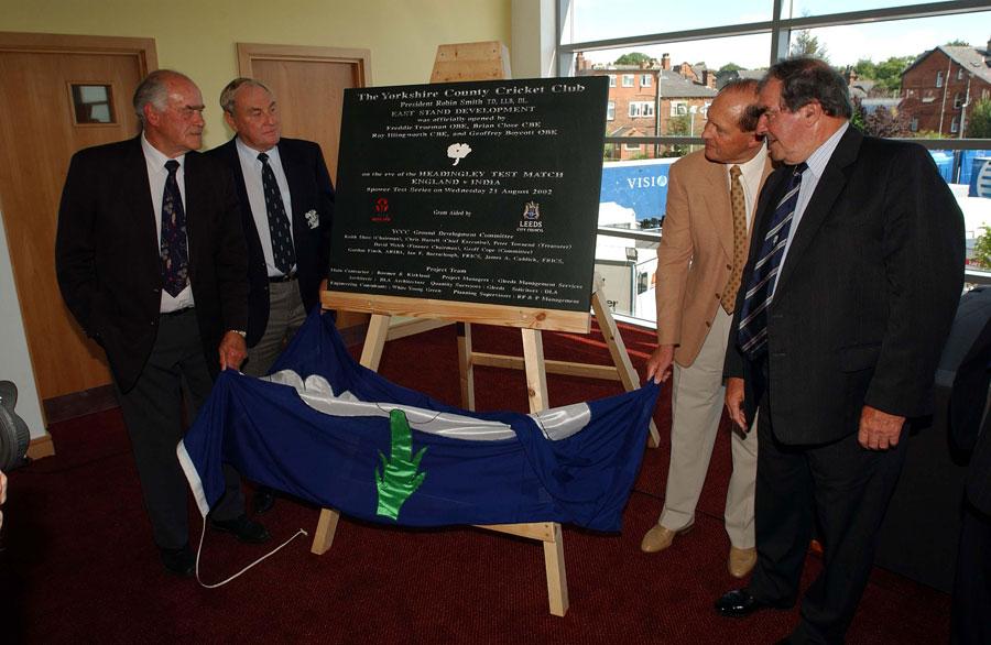 Yorkshire gents: (From left) Close, Ray Illingworth, Geoff Boycott and Fred Trueman at Headingley in 2002