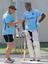 Geoff Marsh hands out tips during Sri Lanka's training session, Sharjah, November 1, 2011