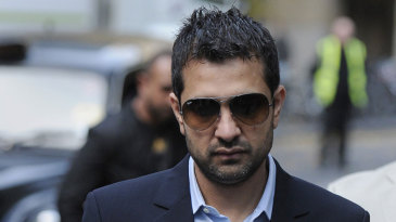 Mazhar Majeed arrives at the Southwark Crown Court for the sentencing process