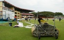 Rain delayed the start of play for a little while, Zimbabwe v New Zealand, only Test, Bulawayo, 2nd day, November 2, 2011