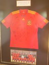 A Spain 2010 World Cup football jersey in Senwes Park, Potchefstroom, November 3, 2011