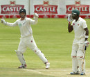 Reece Young celebrates the wicket of Vusi Sibanda, Zimbabwe v New Zealand, only Test, Bulawayo, 3rd day, November 3, 2011
