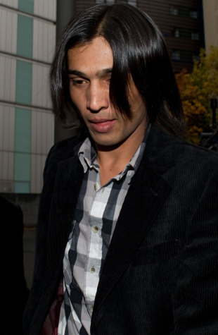 Mohammad Amir arrives at Southwark Crown Court to be sentenced, London, November 3, 2011