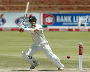 Kane Williamson whips through square leg, Zimbabwe v New Zealand, only Test, Bulawayo, 4th day, November 4, 2011