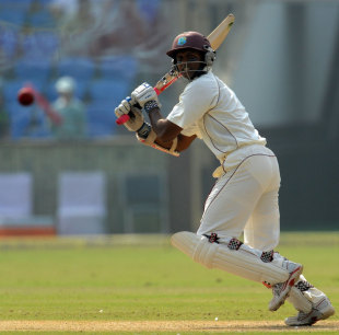 Shivnarine Chanderpaul plays the cut, India v West Indies, 1st Test, New Delhi, 1st day, November 6, 2011