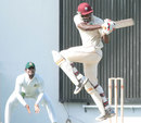 Carlos Brathwaite plays the pull, West Indies A v Bangladesh A, 1st unofficial Test, Antigua, 1st day