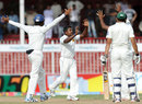 Rangana Herath celebrates his dismissal of Azhar Ali, Pakistan v Sri Lanka, 3rd Test, Sharjah, 5th day, November 7, 2011
