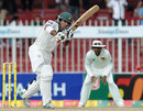 Taufeeq Umar plays straight, Pakistan v Sri Lanka, 3rd Test, Sharjah, 5th day, November 7, 2011