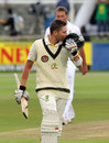 Michael Clarke celebrates his ton, South Africa v Australia, 1st Test, Cape Town, 1st day, November 9, 2011