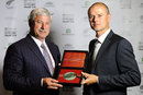 Chris Martin receives the Sir Richard Hadlee Medal, Auckland, November 10, 2011