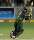 Imran Farhat works one behind square on the leg side, Pakistan v Sri Lanka, 1st ODI, Dubai, November 11, 2011