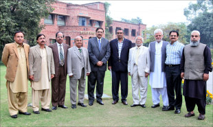 Pakistan's regional cricket associations' heads with PCB chief Zaka Ashraf, Lahore, November 2011