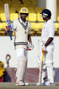Hemang Badani acknowledges the applause on getting to fifty, Tamil Nadu v Haryana, Ranji Trophy Elite 2011-12, Chennai, November 12, 2011