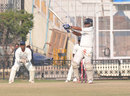 Ravi Inder Singh hits the winning runs against Orissa, Tamil Nadu v Haryana, Ranji Trophy Elite 2011-12, Chennai, November 12, 2011