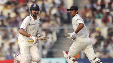 Rahul Dravid and VVS Laxman added 140 for the fourth wicket