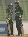 Bismah Maroof and Javeria Khan during their 78-run partnership, Bangladesh v Pakistan, Group B match, ICC Women's World Cup Qualifier, Mirpur, November 14, 2011