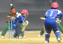 Yuko Saito was one of Salma Khatun's five wickets, Bangladesh Women v Japan Women, Group B match, ICC Women's World Cup Qualifier, Savar, November 15, 2011