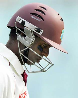 Shivnarine Chanderpaul walks back after being dismissed, India v West Indies, 2nd Test, Kolkata, 3rd day, November 16, 2011