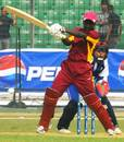 Kycia Knight thrashes one, Japan v West Indies, women's ODI, Savar, ICC Women's World Cup Qualifier, November 18, 2011