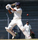 Amit Verma plays a cut during his 17, Mumbai v Karnataka, Ranji Trophy Elite League, Mumbai, 2nd day, November 18, 2011